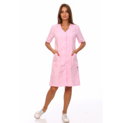 Халат медицинский М-022А (розовый)
